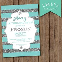 Frozen Birthday Invitation Party Glitter