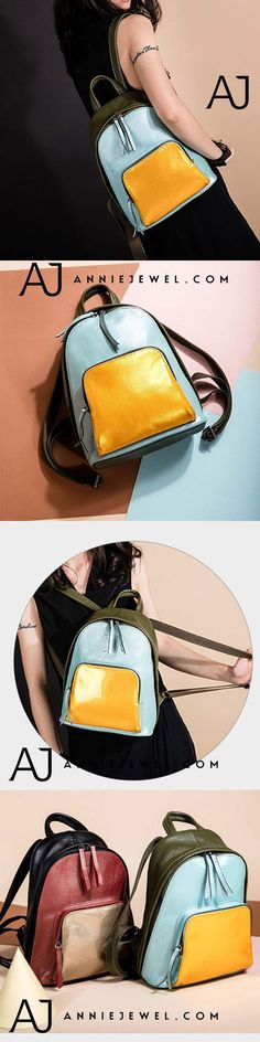 GENUINE LEATHER BACKPACK HANDBAG CHAIN SHOULDER BAG CROSSBODY BAG PURSE CLUTCH FOR WOMEN