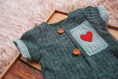 Newborn Boy Overall, Forest Green, Newborn Romper, Baby Boy Outfit, Newborn Outfit Prop, Baby Picture Prop, Red Heart, Newborn Photo Prop by LovelyBabyPhotoProps on Etsy