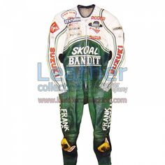 Roger Marshall Suzuki GP 1987 Leather Suit for $719.20 - https://www.leathercollection.com/en-we/roger-marshall-suzuki-leather-suit.html