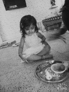 Cute baby doll in festival rakhi..