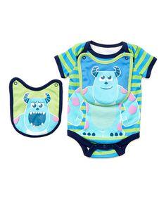 Love this Disney Monster's, Inc. Green Bodysuit & Bib - Infant on #zulily! #zulilyfinds