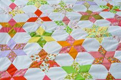 Star Flower quilt along...link to all blog posts linked in comments.