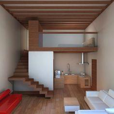 45 Ideas for bath room tiny house stairs Tiny House Stairs, Loft House, Tiny House Living, Tiny House Plans, House Rooms, House Bath, Living Room, Attic Stairs, Mini Loft