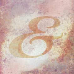 Biorst ampersand Typography, pastel, texture, grunge  Buy Prints: https://society6.com/product/biorst-ampersand_print#1=45