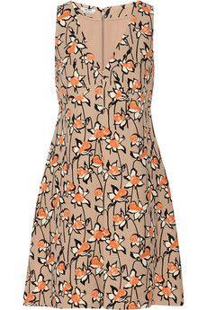 Miu Miu Printed cady dress   THE OUTNET