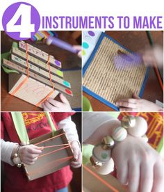 4 Instruments for Kids to Make from Kiwi Crate