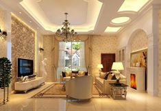 Inspirations Modern Ceiling Design For Decorating Your Home Ideas Living Room Decorations Accessories Adorable Diy False Ceiling Design With Nice Chandelier In Luxury Living Room False Ceiling Design, Wooden Ceiling Design, Ceiling Design Living Room, False Ceiling Living Room, Home Ceiling, Ceiling Decor, Living Room Interior, Home Interior Design, Living Room Designs