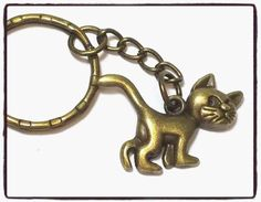 Cute #bronze cat #keyring/keychain/bag #charm/gift,  View more on the LINK: http://www.zeppy.io/product/gb/2/272429140779/