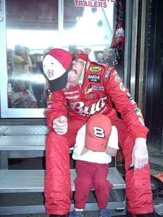 Dale Jr, and a fan!