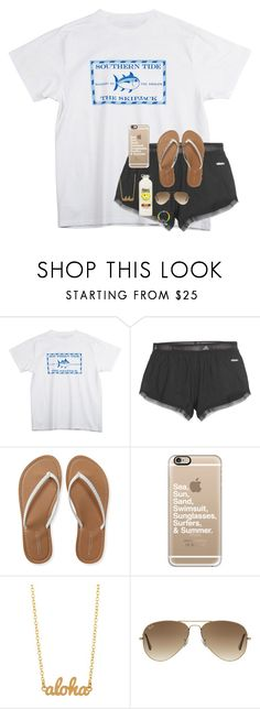 """""""Leaving for California tomorrow! 😁"""" by emmalw02 ❤ liked on Polyvore featuring Southern Tide, adidas, Aéropostale, Casetify, Kris Nations and Ray-Ban"""