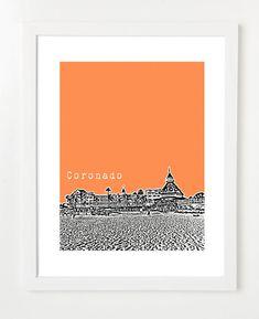Coronado California Poster   Coronado City by BugsyAndSprite, $20.00