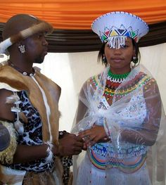 A traditional South African wedding. South African Wedding Dress, South African Weddings, African American Weddings, African Dresses For Women, African Attire, African Women, African Outfits, African Traditional Wedding, African Traditional Dresses