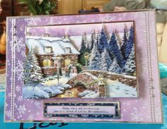 Christmas Card - - makings from Hunkydory 'Joy of Christmas' decoupage Christmas Decoupage, Christmas Cards To Make, Xmas Cards, Hand Made Greeting Cards, Making Greeting Cards, Hunkydory Crafts, Hunky Dory, Christmas Inspiration, A5