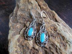 Darling Women Heart Silver Turquoise Earrings With Oval Halo Setting,Heart Earrings,Turquoise Earrings,Pierced Earrings,Personalized Gifts by Supsilver on Etsy