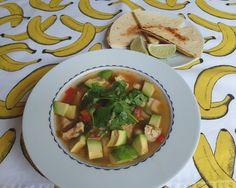 Aneta Goes Yummi: Rýchla a svieža mexická polievka so syrovou tortillou (moja srdcovka)