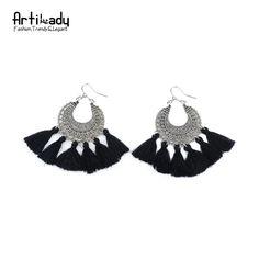Artilady moda boho nappa orecchino della boemia dell'annata monili delle donne regalo di nuovo anno