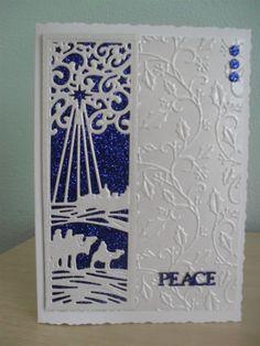 Time for tea . Religious Christmas Cards, Christmas Card Crafts, Xmas Cards, Christmas Angels, Christmas Themes, Holiday Cards, Sue Wilson, Hallmark Christmas, Wedding Cards