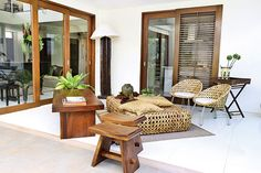 5 Design Ideas for a Modern Filipino Home | Wooden furniture, Bench ...