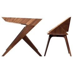 """""""Locust"""" Wood Desk with """"Nest"""" Chair, Alexandre Caldas 