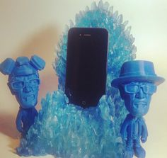 Blue Meth Throne Charging Dock for Android / iphone (Creator) #gameofthrones #breaking #bluemeth #bad #breakingbad #aquamarine #3dprinted #3dprint breaking bad