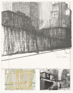 The Museum of Modern Art, Wrapped (Rear), Project for New York from the portfolio (Some) Not Realized Projects. (April 9 and July Lithograph, with photograph collage. Larry Aldrich Fund and Walter Bareiss Fund. Drawings and Prints Online Katalog, And July, New York, Museum Of Modern Art, Moma, Map Art, Designs To Draw, Contemporary Art, Louvre