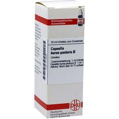 CAPSELLA BURSA pastoris Urtinktur:   Packungsinhalt: 20 ml Dilution PZN: 02118065 Hersteller: DHU-Arzneimittel GmbH & Co. KG Preis: 7,67…