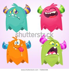 Find Cartoon Monsters Vector Set Cartoon Monsters stock images in HD and millions of other royalty-free stock photos, illustrations and vectors in the Shutterstock collection. Thousands of new, high-quality pictures added every day. Doodle Characters, Monster Characters, Cartoon Monsters, Cute Monsters, Monster Party, Game Design, Flyer Design, Character Inspiration, Character Design