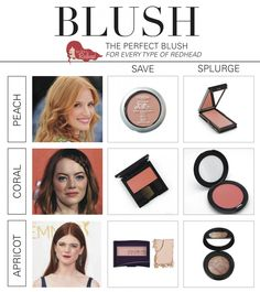 Blush can be a touchy subject for redheads -- should you wear it or not wear it? If you choose the right shade based on your red hair and skin, you will fall in love with it! Here are our 'Redhead Fri