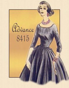 Advance # 8315--Special Occasion Pattern designed by Anne Fogarty