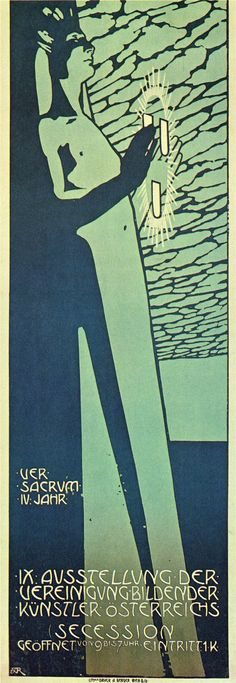 Alfred Roller, Vienna Secession poster