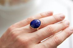Lapis Ring in Recycled 14k Gold and Sterling by erinjanedesigns, $192