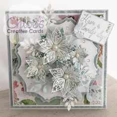 Dies by Chloe - Fabulous Flowers - - As Seen on TV - Chloes Creative Cards Chloes Creative Cards, Creative Christmas Cards, Xmas Cards, Handmade Birthday Cards, Greeting Cards Handmade, Card Making Inspiration, Making Ideas, Stamps By Chloe, Exploding Box Card