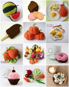 crochet food - very nice site with a lots of crochet ideas (set of fishing, etc.)