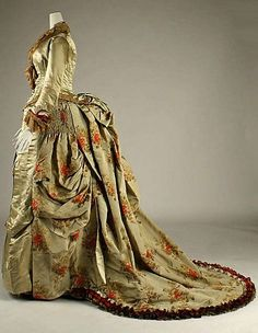 House of Worth dress. French. 1875.