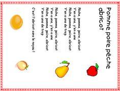 Pomme poire pêche abricot - Paroles de chanson - Tête à modeler Songs For Children, Music Lyrics, Pears, Animated Cartoons