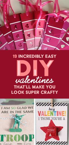 Easy diy valentines! You have got to check out these ideas! #valentinesday #valentine #diy