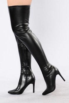 a8da814a028457 Empress Heel - Black High Heel Boots
