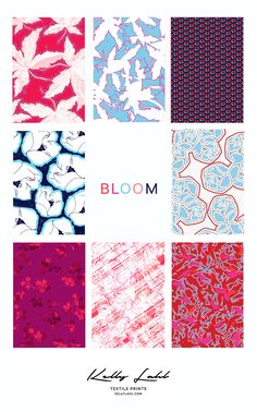 I like the layout of this collection Textile Prints, Textile Patterns, Textile Design, Textiles, Surface Pattern Design, Pattern Designs, Scene Image, Design Lab, Student Work