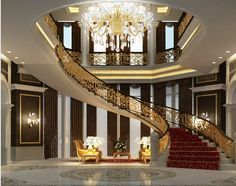 I think this is a little too fancy for me and my dogs, but I like the curve of the staircase.