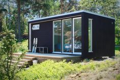 Another kit house in timber. This is 20 sq. High spec and the cost is close to Modular Homes, Prefab Homes, Sauna House, Outdoor Sauna, Summer Cabins, Small Buildings, Timber House, Backyard Retreat, Scandinavian Home