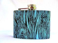 faux bois flask... drinking in style #fauxbois
