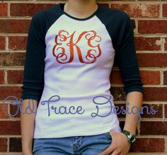 Items similar to Raglan Baseball or Softball Glitter Monogram Trim-fit Tee Shirt on Etsy Baseball Shirts, Tee Shirts, Tees, Glitter Vinyl, Cricut Explore, Heat Press, Cricut Ideas, Softball, Shirt Ideas
