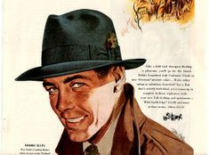 Vintage Hats for Men | vintage men fashion hat dobbs 1948 advertisement by FrenchFrouFrou, $ ...