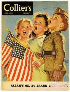 https://flic.kr/p/9Zutzj | July 4th 1944 | Illustration by Frances Tipton Hunter.