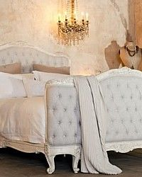 Lovely:::  Eloquence Sophia Upholstered Tufted Bed Old Cream i wish!