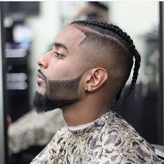 This is Awesome! Got this from Go check em Out Check Out for 57 Ways to Build a Strong Barber Clientele! Copy Hashtags Show 30 Hashtags Braid Styles For Men, Hair And Beard Styles, Hair Styles, Mens Braids Hairstyles, Cool Hairstyles, Braided Mohawk Black Hair, Cool Braids, Man Braids, Black Men Beards