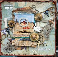 """Project featuring Tim Holtz """"mixed media"""" stamp. So pretty."""
