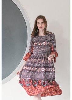 Printed Sun Modest Dress