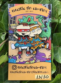 "Image of ""Phil & Lil as Mikey & Raph"" Enamel Pin"